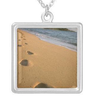 USA, Hawaii, Kauai, Kapa'a, beachfront. Silver Plated Necklace