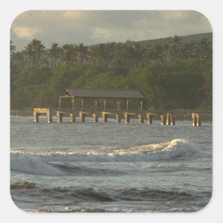 USA, Hawaii, Kauai, southwest coast, near Square Sticker