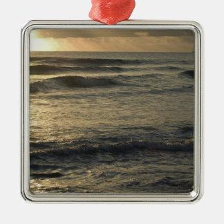 USA, Hawaii, Kauai, southwest coast, near Waimea Square Metal Christmas Ornament