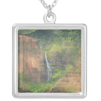 USA, Hawaii, Kauai, Waimea, Waimea Canyon Silver Plated Necklace