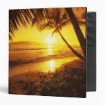 USA, Hawaii, Maui, Colorful sunset in a 2 Vinyl Binders