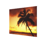 USA, Hawaii, Maui, Colorful sunset in a 2 Gallery Wrap Canvas