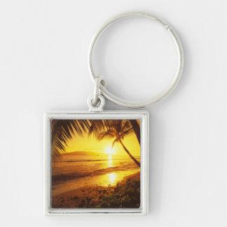 USA, Hawaii, Maui, Colorful sunset in a 2 Keychain
