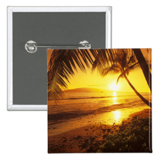 USA, Hawaii, Maui, Colorful sunset in a 2 Pinback Button