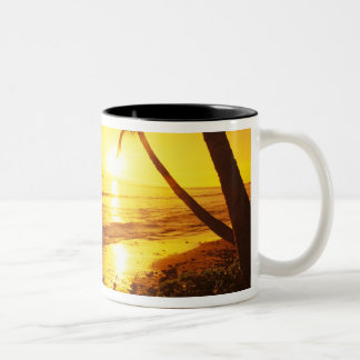 USA, Hawaii, Maui, Colorful sunset in a 2 Two-Tone Coffee Mug