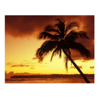 USA, Hawaii, Maui, Colorful sunset in a Postcard