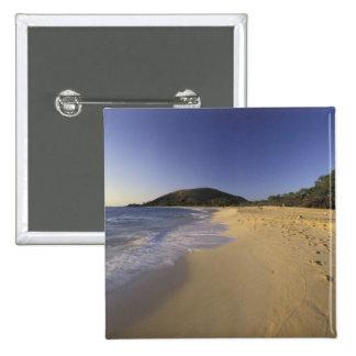 USA, Hawaii, Maui, Footprints in sand, Makena Pinback Button