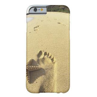 USA, Hawaii, Maui, Makena Beach, Footprint and Barely There iPhone 6 Case