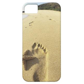 USA, Hawaii, Maui, Makena Beach, Footprint and iPhone 5 Cases