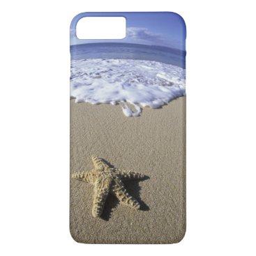 USA Themed USA, Hawaii, Maui, Makena Beach, Starfish and iPhone 8 Plus/7 Plus Case