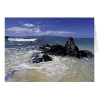 USA, Hawaii, Maui, Maui, Makena Beach, Surf on Card