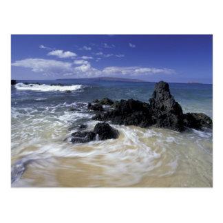 USA, Hawaii, Maui, Maui, Makena Beach, Surf on Postcard