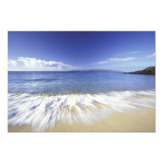 USA, Hawaii, Maui, Surf coming in to Makena Photo Art