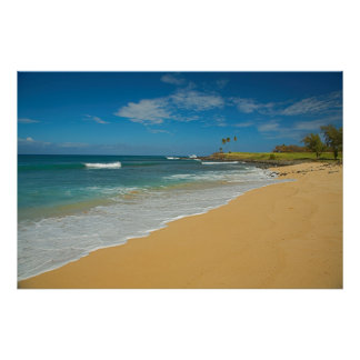 USA, Hawaii, Molokai Island, Three Mile Beach Poster