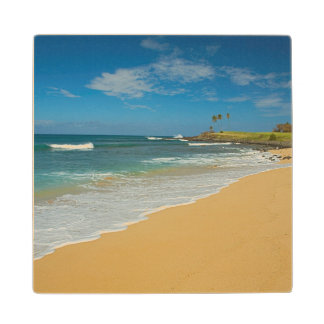 USA, Hawaii, Molokai Island, Three Mile Beach Wooden Coaster