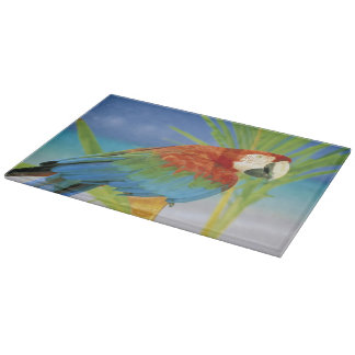 USA, Hawaii. Parrot Cutting Board