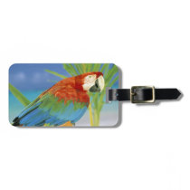 USA, Hawaii. Parrot Luggage Tag