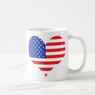 USA Heart Coffee Mug