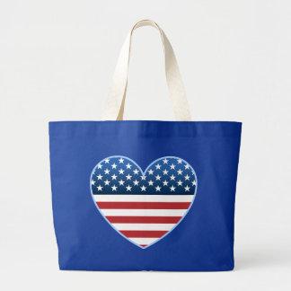 USA Heart Flag Bags Totes