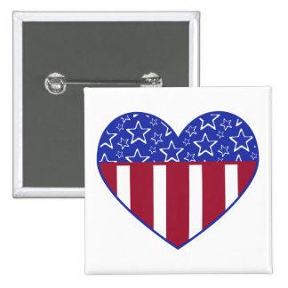 USA Heart Flag Button
