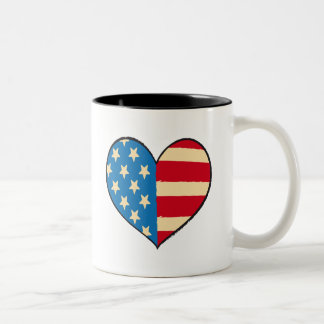 Usa Heart Flag - heart mug