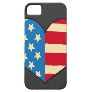Usa Heart Flag iphone5 case