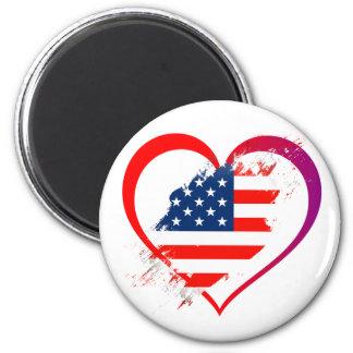 Usa heart magnet