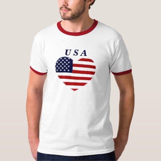 USA ,heart of Love_ T-Shirt