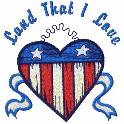 USA Heart Polo Shirts