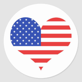 USA Heart Stickers