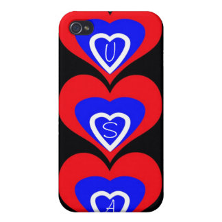 USA Hearts iPhone 4 cover