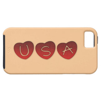 USA Hearts iPhone 5/5S, Vibe Case iPhone 5 Cover