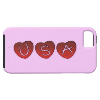 USA Hearts iPhone 5/5S, Vibe Case iPhone 5 Cases