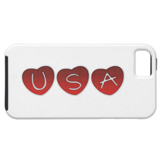 USA Hearts iPhone 5/5S, Vibe Case iPhone 5 Case