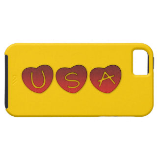 USA Hearts iPhone 5/5S, Vibe Case iPhone 5 Covers