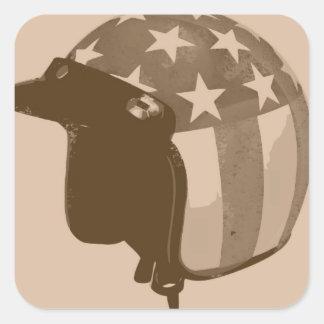 USA HELMET  TOOLBOX SQUARE STICKER