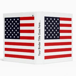 Usa High quality Flag 3 Ring Binders
