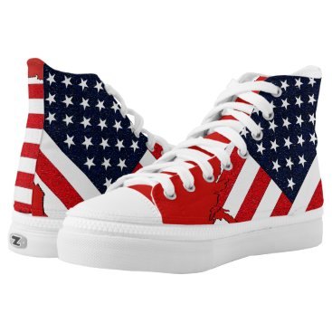 USA Themed USA High-Top SNEAKERS