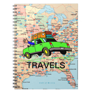 USA Highway Map Travel Planner Notebook