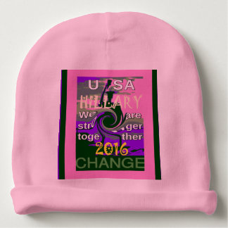 USA Hillary Baby Pink stronger together colors Baby Beanie
