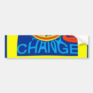 USA Hillary Beautiful Change Pattern Art design Bumper Sticker