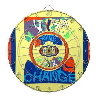 USA Hillary Beautiful Change Pattern Art design Dart Boards