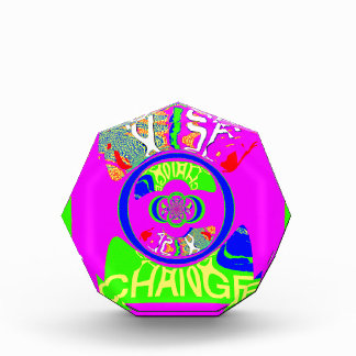 USA Hillary Change Monogram  Art design Acrylic Award