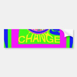 USA Hillary Change Monogram  Art design Bumper Sticker