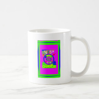 USA Hillary Change Monogram  Art design Coffee Mug