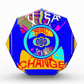 USA Hillary Change Pattern Art design Award