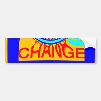 USA Hillary Change Pattern Art design Bumper Sticker