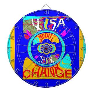 USA Hillary Change Pattern Art design Dartboard