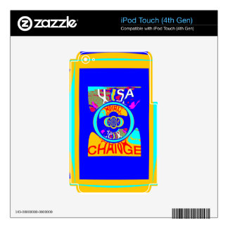USA Hillary Change Pattern Art design Decal For iPod Touch 4G