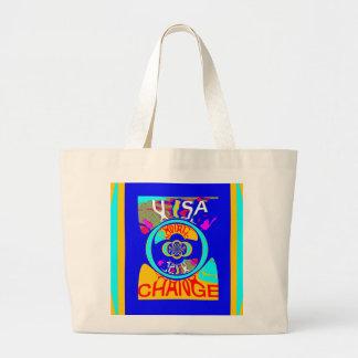 USA Hillary Change Pattern Art design Large Tote Bag